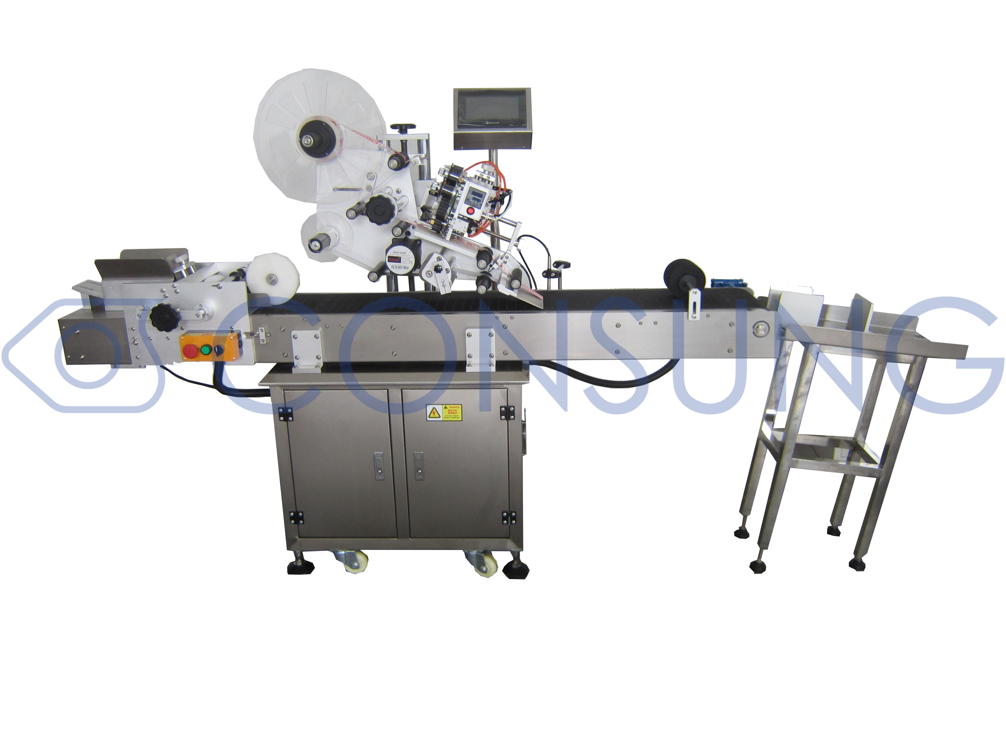 USA customer order bag labeling machine